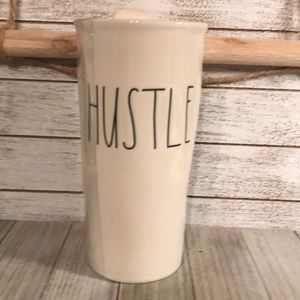 "Rae Dunn ""HUSTLE"" 12 oz Travel Mug"